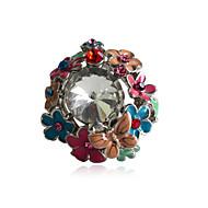 Anillos de Diseño,Joyas Fiesta / Diario / Casual Cristal / Legierung 1 pieza,7 Mujer