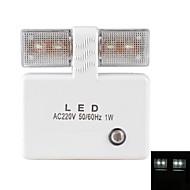 lyssensor 1w hvitt lys ledet nattlampe (220V)