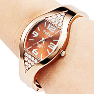 Mujer Reloj de Moda Cuarzo Aleación Banda Brazalete Bronce Marca-
