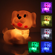 Søde Hund formet farverige LED Night Light (3xAG13)