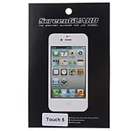 Beschermende Clear Screen protector met een reinigingsdoekje voor de iTouch 5