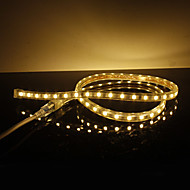 Waterproof 10W / M 5050 SMD warm wit licht LED Strip Lamp (220V, lengte instelbaar)