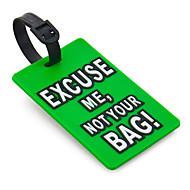 Voyage étiquette de bagage - Excusez-moi, pas votre sac (vert)