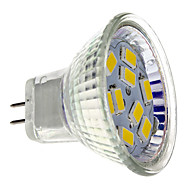 2w gu4 (mr11) led spotlight mr11 9 smd 5730 200 lm warm wit dc 12 v