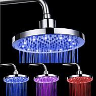 8-tommers 12-LED Round tak Shower Head (Assorterte farger)