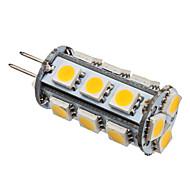 2W G4 LED-kolbepærer T 18 SMD 5050 110 lm Varm hvid Jævnstrøm 12 V