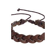 z&x® brun flettet armbånd