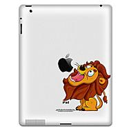 Patrón Lion engomada protectora para el iPad 1, iPad 2, iPad 3 y el nuevo iPad