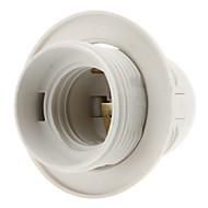 E27 Base Bulb draadsok Lamp Holder (White)