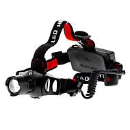 Linternas LED / Linternas de Cabeza (Enfoque Ajustable / Recargable / Táctico / autodefensa) - LED 3 Modo 200 Lumens Cree XR-E Q5 - para