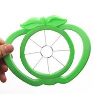 εργαλείο σχήμα μήλου πλαστικό εύκολο φρούτα τεμαχιστή κόφτη (τυχαία χρώματα)