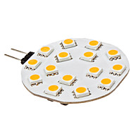 G4 2.5 W 15 SMD 5050 210 LM Warm White Bi-pin Lights DC 12 V