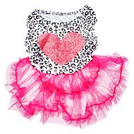 犬用品 ドレス ピンク 犬用ウェア 夏 / 春/秋 ハート ファッション