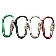Combo Lock Metal Hiking Clip Large-sized (Color Assorted)