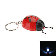 Coccinella Septempunctata Shaped LED Flashlight Keychain (Random Colors)