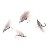 Moscas HOMA-imitado Pesca Lure SS10-10 # gancho (10 piezas)