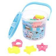 24 Farver Soft Clay Toys Sæt med Portable Box (tilfældig farve)