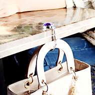 Colorful Crystal Folding Bag Hanger Handbag Hook(1 Piece Random Color)