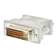DVI 24+1 Male to VGA Female Adapter White