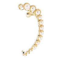 Ear Cuffs Perłowy Stop Silver Golden Biżuteria Na Codzienny