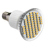 E14 4W 60x3528SMD 210-240LM 3000-3500K Warm White Light LED Spot Bulb (85-265V)