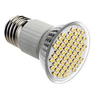 E27 4W 60x3528SMD 180-240LM 3000-3500K Warm White Light LED Spot Bulb (85-265V)