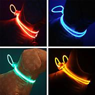 регулируемая стильный ночной безопасность светодиодной вспышкой воротник для собак (ассорти цветов, длина: 70cm / 27inch)