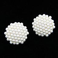 Κουμπωτά Σκουλαρίκια Γλυκός Μαργαριτάρι Round Shape Κοσμήματα Για Πάρτι Καθημερινά