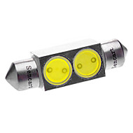 36mm 2W 2-LED 6000-6500K Dome weiße Glühlampe (DC 12V)