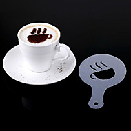 kaffe stencils latte kunst cappuccino plastplade skabelon sæt