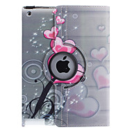 Heart-Shaped Flower uzorak360 Degree Rotatable PU kožnim Full Body Case with Stand for iPad 2/3/4