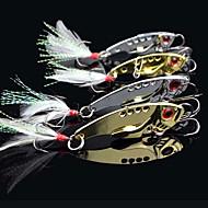 fiskeri 3-kroge med fiskeformet metal lokkemiddel (7g, 12g;)