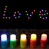 Colorized Kynttilä muotoinen DIY Night Light (5 kpl)