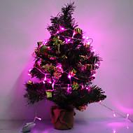 10M 6W 100-LED Pink LED Strip Light til jul Halloween Festival Decoration (110V)