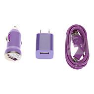3 i en vegg lader + billader + Micro USB-kabel for Samsung Galaxy Mobile Phone