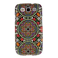 Três círculos Tecelagem Cotton Pattern Cloth Proteção Hard Case Capa para Samsung Galaxy S3 I9300