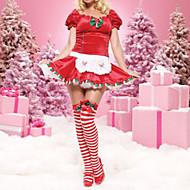 Noël costume à manches courtes rouge femmes