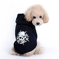 개 후드 블랙 강아지 의류 모든계절/가을 해골 패션