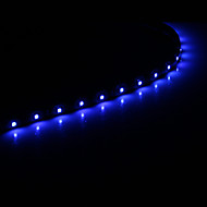 0.3M 15x1210SMD Cool White \ Blue Light LED Vandtæt Fleksibelt String Light (DC 12V)