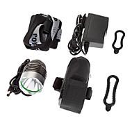 SSC-P7 3-Mode 1xCree MC-E LED Bicycle Front Light/Headlamp(1200LM, 4x18650, Black)