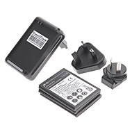 3 Pcs 2500mAh Battery + Dock Wall Charger + 3 Pcs Adapters for Samsung Galaxy Note N7000/I9220
