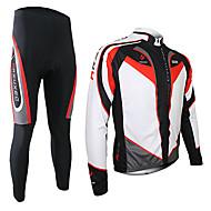 Ademend / Sneldrogend / Houd Warm - Heren - Recreatiesport / Fietsen - Pakken/Kledingsets / Broeken / Shirt (Wit / Zwart) - Lange Mouw