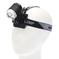 CABALLERO OSCURO K3C 4-Mode 3xCREE XM-L T6 LED de la linterna de la bicicleta (3600LM, 4x18650, Negro)