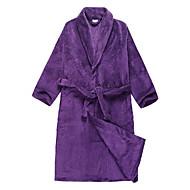 Kylpytakki, Velour Purple Kiinteä Väri Vaatteiden - 2 Koko Saatavilla