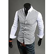 Man's Long Sleeve V-Neck Cotton Shirts