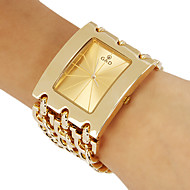 Women's Dress Style Gold Steel Chain Band Quartz Wrist Watch (Assorted Colors)