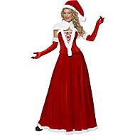 5 Pieces Kerstman Queen Red Velvet Kerst Kostuum