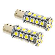 Bay15d/1157 7W 30x5050SMD 570LM 5500-6500K Cool White Light LED Bulb for Car (12V,2pcs)