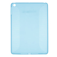 Solid Color Cross Stripes Pattern TPU Hard Case for iPad Air (Assorted Colors)