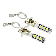 H3 6W 13x5060SMD 450LM 5500-6500K Cool White Light LED Bulb for Car (12V,2pcs)